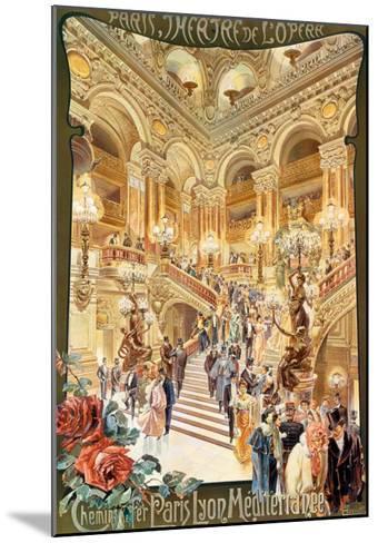 Paris, Theatre de l'Opera--Mounted Art Print