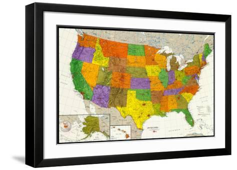 U.S. Map--Framed Art Print