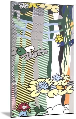 Water Lilies with Japanese Bridge-Roy Lichtenstein-Mounted Art Print