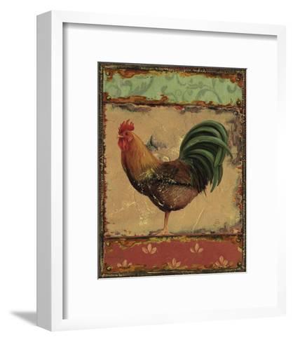 Rooster Portraits IV-Daphne Brissonnet-Framed Art Print