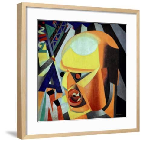 Portrait of Marinetti-Enrico Prampolini-Framed Art Print
