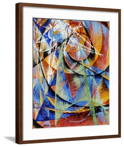 Mercury Passing Before the Sun-Giacomo Balla-Framed Art Print