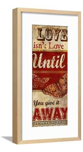 Love Isn't Love-Conrad Knutsen-Framed Art Print