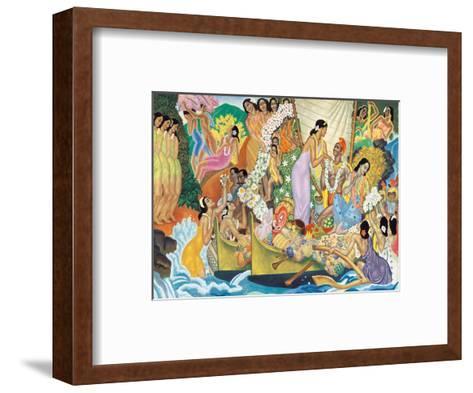 Aloha: Universal Word, Traditional Hawaiian Welcome-Eugene Savage-Framed Art Print