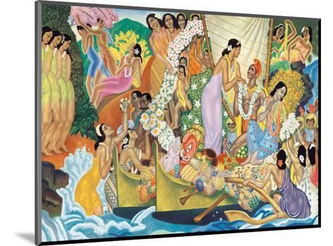Aloha: Universal Word, Traditional Hawaiian Welcome-Eugene Savage-Mounted Art Print