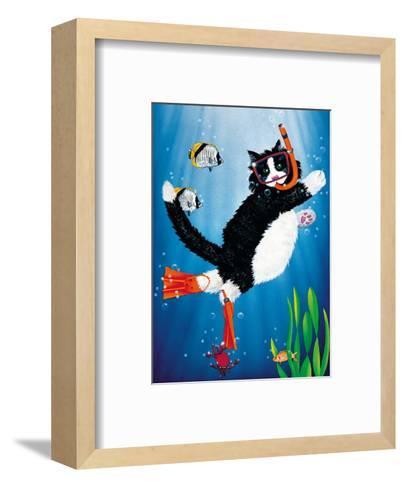 Snorkel Kitty-Peter Powell-Framed Art Print