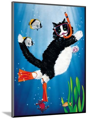 Snorkel Kitty-Peter Powell-Mounted Art Print