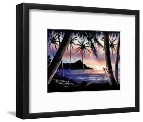 Sunrise Over Diamond Head, Hawaii c.1940s-Hale Pua Studio-Framed Art Print