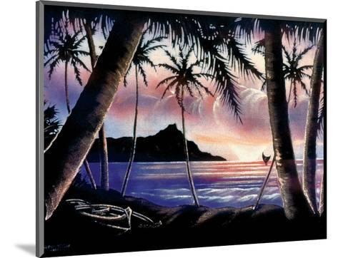 Sunrise Over Diamond Head, Hawaii c.1940s-Hale Pua Studio-Mounted Art Print
