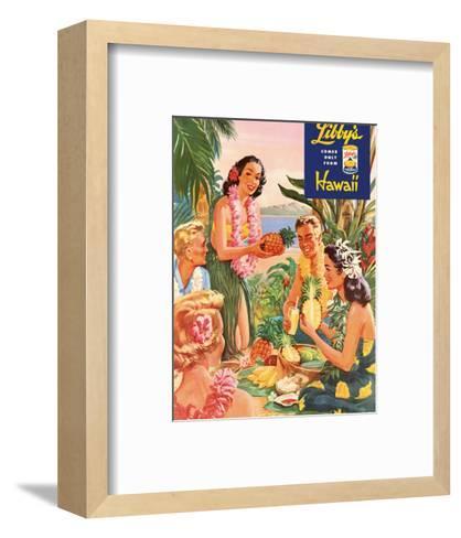 Hawaiian Luau, Libby's Pineapple Hawaii, c.1957-Laffety-Framed Art Print