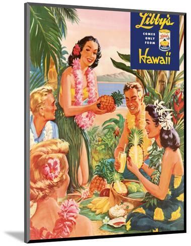 Hawaiian Luau, Libby's Pineapple Hawaii, c.1957-Laffety-Mounted Art Print