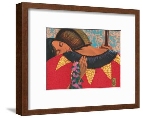The Homecoming, Hawaiian Warrior-Hakama-Framed Art Print
