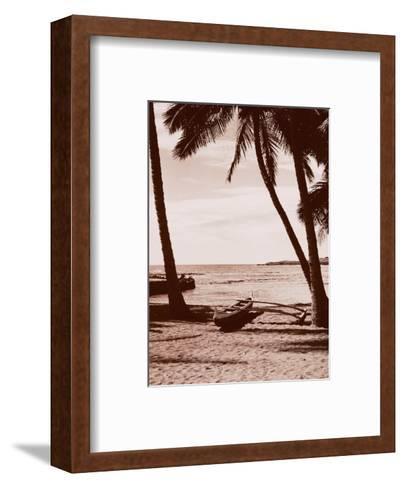 Hawaiian Outrigger Canoe--Framed Art Print