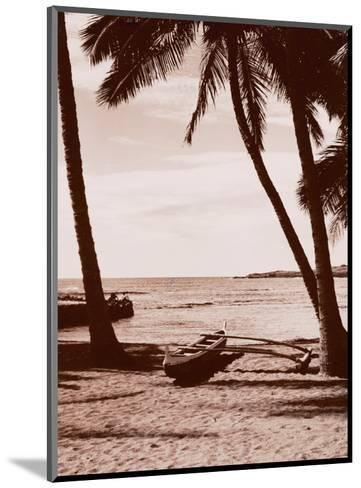 Hawaiian Outrigger Canoe--Mounted Art Print