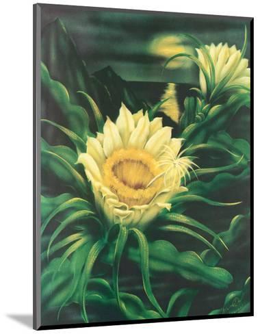 Blooming Cereus with Full Moon, Hawaii-Ted Mundorff-Mounted Art Print