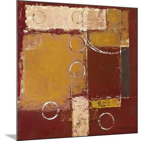 Circles on Red and Brown II-David Sedalia-Mounted Art Print