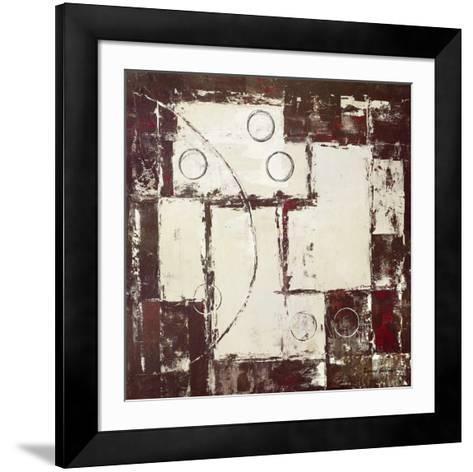 Circles on Brown and Beige I-David Sedalia-Framed Art Print