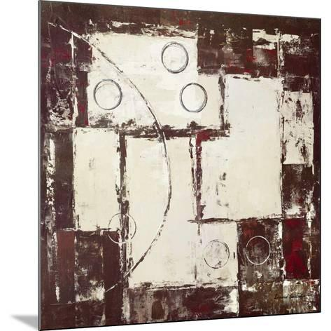 Circles on Brown and Beige I-David Sedalia-Mounted Art Print
