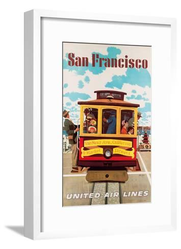 United Air Lines San Francisco, Cable Car c.1957-Stan Galli-Framed Art Print