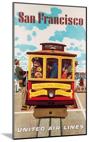 United Air Lines San Francisco, Cable Car c.1957-Stan Galli-Mounted Art Print