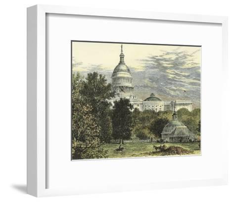 Capitol from the Botanical Gardens--Framed Art Print