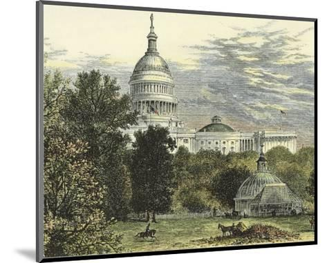 Capitol from the Botanical Gardens--Mounted Art Print