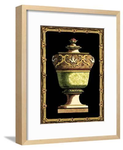 Jade Urn on Black IV--Framed Art Print