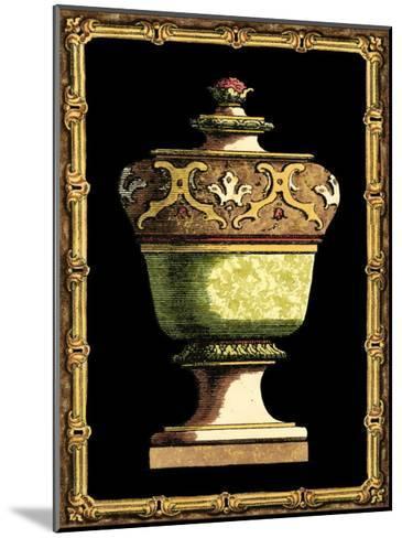Jade Urn on Black IV--Mounted Art Print