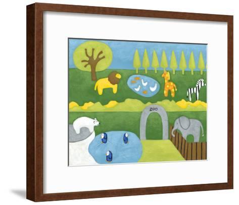Storybook Zoo-Chariklia Zarris-Framed Art Print