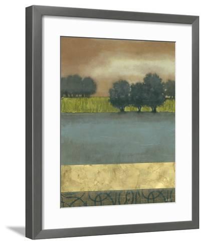 Textured Dusk II--Framed Art Print