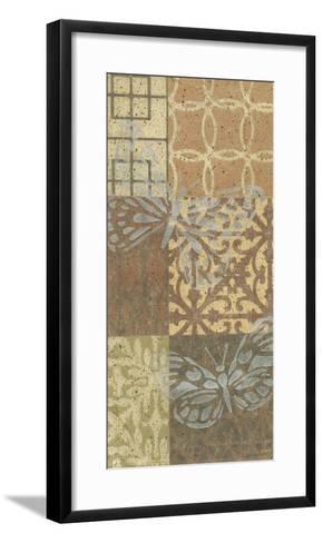 Trellis Butterfly Panel II--Framed Art Print