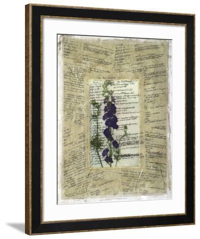 Wildflower Prose II-Jennifer Goldberger-Framed Art Print