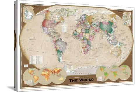 World Map--Stretched Canvas Print