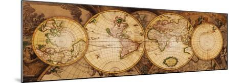 Map of the World: Nova Totius Terrarum Orbis--Mounted Art Print