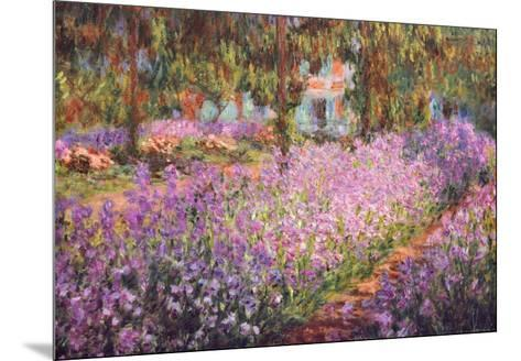 The Artist's Garden at Giverny, c.1900-Claude Monet-Mounted Art Print