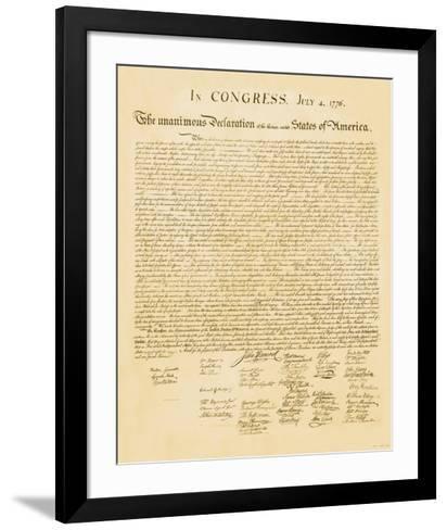 Declaration of Independence--Framed Art Print