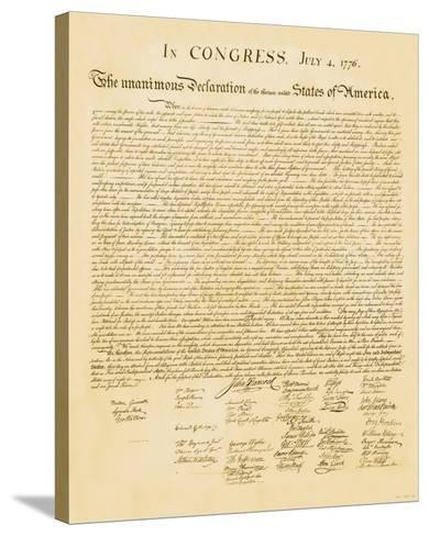 Declaration of Independence--Stretched Canvas Print