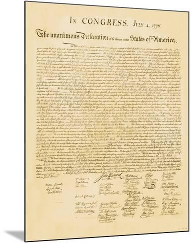 Declaration of Independence--Mounted Art Print