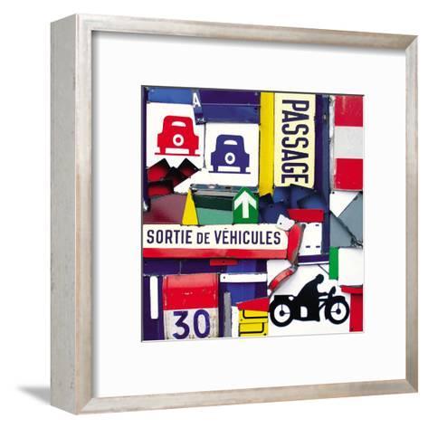 Sortie de Vehicules-Fernando Costa-Framed Art Print