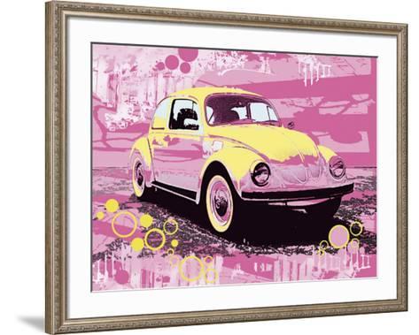Vintage Beetle-Michael Cheung-Framed Art Print