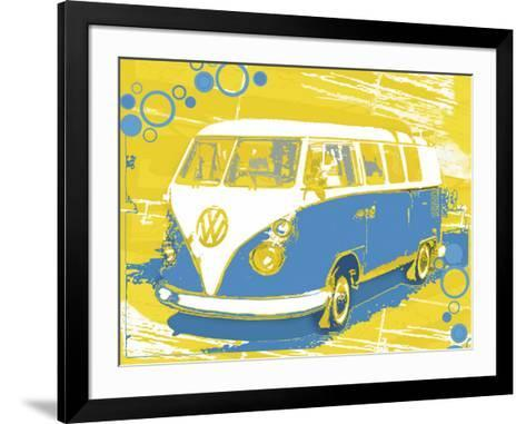 Vintage VW Bus-Michael Cheung-Framed Art Print