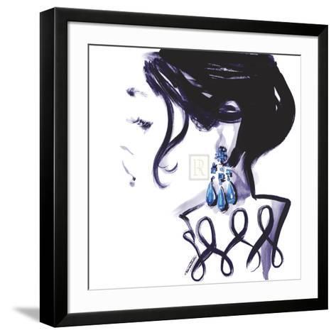 Earrings-Sharon Pinsker-Framed Art Print