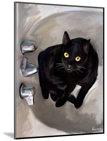 Black Cat Lookin'-Robert Mcclintock-Mounted Art Print