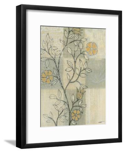 Neutral Linen Blossoms II-Norman Wyatt Jr^-Framed Art Print