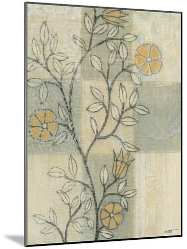 Neutral Linen Blossoms II-Norman Wyatt Jr^-Mounted Art Print