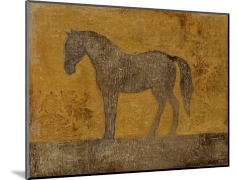 Oxydized Horse II-Norman Wyatt Jr^-Mounted Art Print