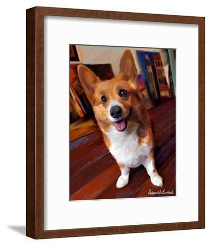 Corgi Get Low-Robert Mcclintock-Framed Art Print