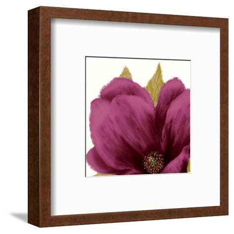 Grandiflora Blush II-Linda Wood-Framed Art Print