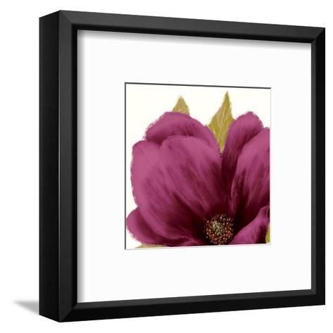 Grandiflora Blush II-Linda Wood-Framed Art Print