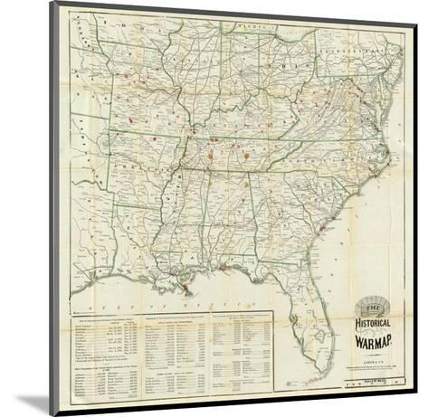 The United States Historical War Map, c.1862-Asher & Company-Mounted Art Print